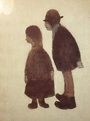 'Two People 1962' - L.S. Lowry, Metallic Framed Print, 8.5 X 11.5 , (ref A28) • 9.99£