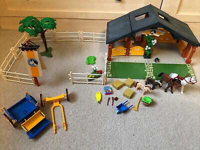 Playmobil Vintage Set 3120 Farm Horse And Pony Ranch Stables • 11.90£