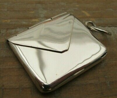 Beautiful Victorian Style Hallmarked Sterling Silver Envelope Stamp Case Holder • 21£