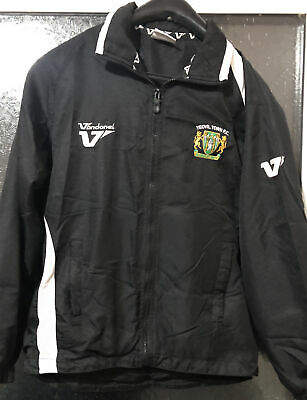 Yeovil Town Football Track Suit Top Jacket Size Youth Medium Black • 15£