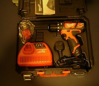 MILWAUKEE M12  12V LYTHIUM -ION CORDLESS,batteries, Charger ,case  New Kit • 100£
