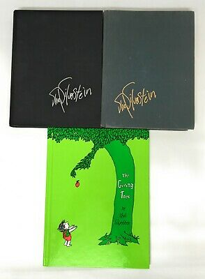 Lot 3 SHEL SILVERSTEIN Hardcover Giving Tree WHERE THE SIDEWALK ENDS Book Set • 18.20£