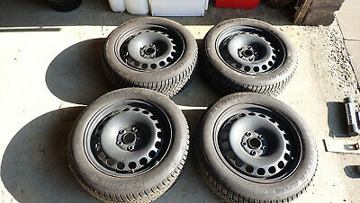 Set Of Four Good Winter Wheels And Tyres For Skoda Yeti / VW Golf / Audi A3 Etc. • 249£