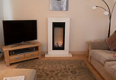 Gazco Studio 22 Sorrento Balanced Flue Gas Fire...Limestone....FANTASTIC • 950£