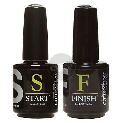 JESSICA GELeration START Base Coat & FINISH Top Coat SET UV/LED Gel Nail Polish • 32.95£