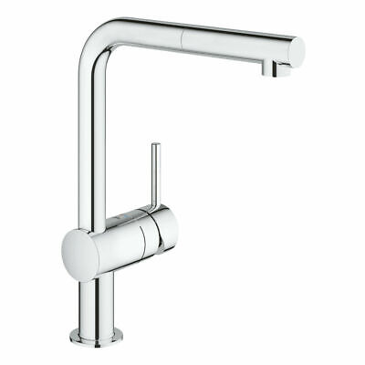 Grohe 32168000 Minta Single-lever Sink Mixer Tap, Pull-Out Spout - Chrome - New • 139.76£