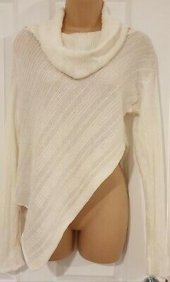Sarah Pacini White Knitwear Rolled Neck Jumper One Size • 35£