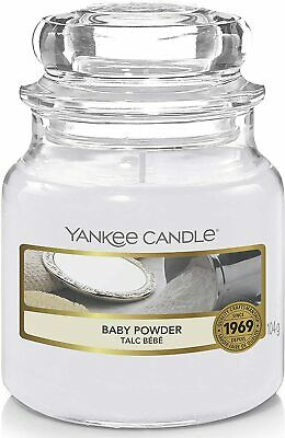 Yankee Candle Scented Candle|Baby Powder Small Jar Candle • 11.49£