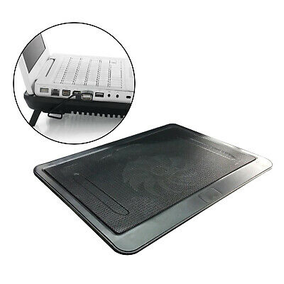 Notebook Laptop Cooler Mat Quiet Cooling Pad Stand Tray  Ventilation 1 Fan Black • 11.51£
