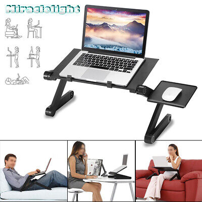 Adjustable Laptop Table Computer Desk Notebook Cooling Stand With Mouse Pad UK • 12.99£