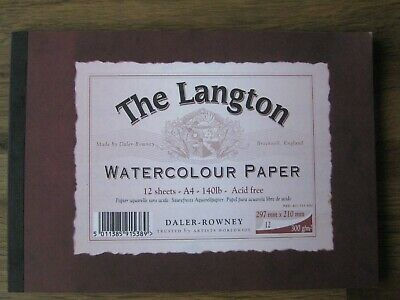 The Langton Watercolour Paper: 12 Sheets - A4-140lb-Acid Free • 9.99£