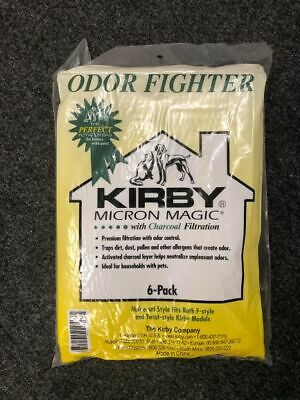 Kirby Odor Fighter Charcoal Vacuum Bags Universal Style All Kirby 6-Pack 202816 • 17.99£