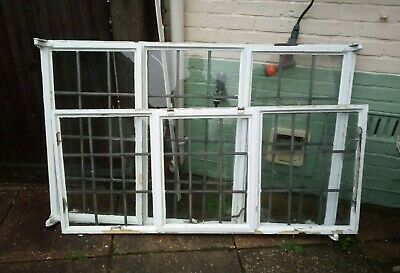 Vintage Crittall Window, Leaded Lights 62 X 58 Inches • 20£