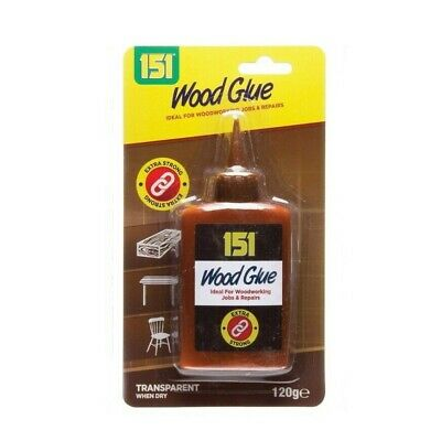 Wood Glue Clear Water Resistant Fix Fast Extra Strong Bond Non Foaming Adhesive • 1£