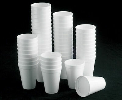 Polystyrene Insulated Cup For Hot Or Cold Drink 7oz 207ml Pack Of 100 • 6.49£