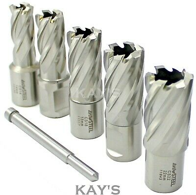 £64.95 • Buy Mag Drill Cutters 6 Pce In Case Rotabroach Jancy Unibor Magnetic Drilling, Jeics
