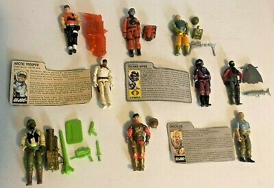$ CDN13.62 • Buy GI Joe Lot Of 9 Action Figures With Accessories Or Cards 1980's & 1990's Lot#5