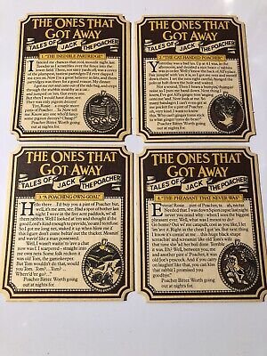 4 X Whitbread Beer Mats 'Tales Of Jack The Poacher' 1-4 (8.3) • 1.99£