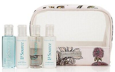 BNWT Crabtree & Evelyn La Source Sea Breeze Travel Gift Bag - Contains 4 Items • 9.50£