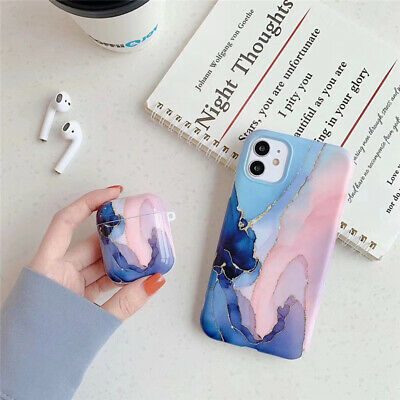 AU19.95 • Buy Marble Glitter Phone And AirPod Case Set For IPhone 11 11Pro X XR XS 7 8 Plus