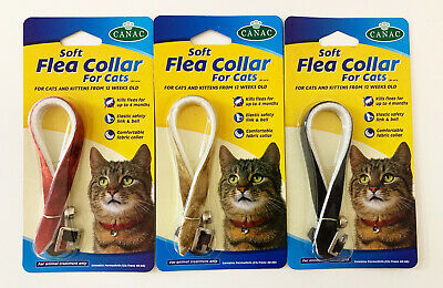 £4.09 • Buy ✅ SOFT CAT FLEE COLLAR WITH BELL Lasts 4 Months Protection Fit All Size🐈