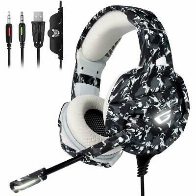 AU38.53 • Buy ONIKUMA K5 LED Wired Stereo Gaming Headset For PS4/PC/Xbox One Controller/Laptop