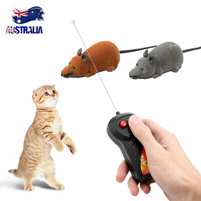 AU12.59 • Buy Fun Wireless Remote Control Electronic Rat Mouse Mice Toy For Cats Dogs