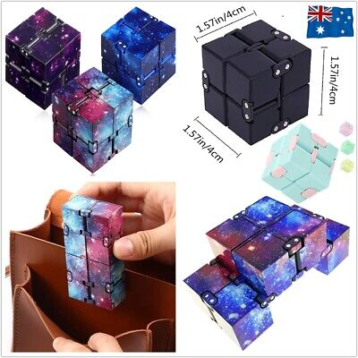 AU7.99 • Buy Infinity Magic Cube Puzzle EDC Fidget ADD ADHD Anti Anxiety EA Stress Relief Toy