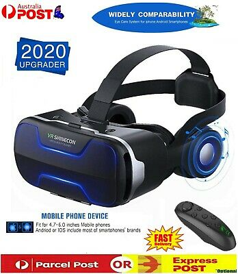 AU74.79 • Buy NEW Virtual Reality Headset VR 4.0 3D Glasses Goggles For Android IOS IPhone AUS