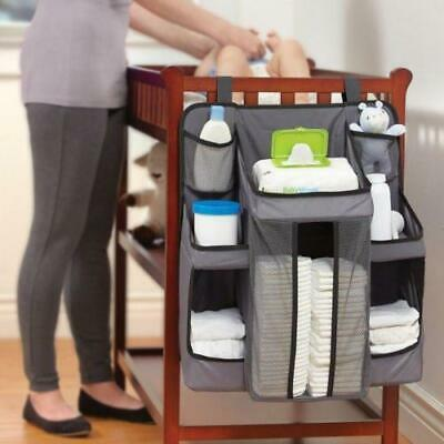 New Baby Nursery Organiser Tidy Storage Nappies Changing Holder Gift Set Cot Bed • 8.99£