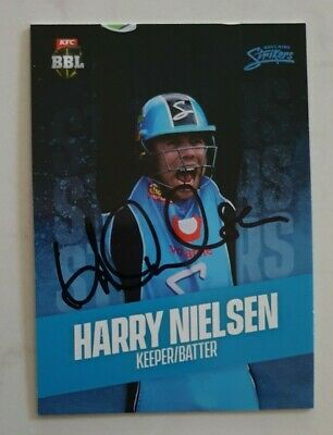 AU11.25 • Buy HARRY NIELSEN CRICKET SIGNED IN PERSON Tap N Play BBL CARD GENUINE