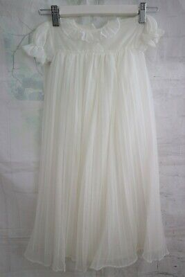 Vintage1960s Childs Ivory Nylon Christening Gown - 18  Chest, 25  Long • 12.50£