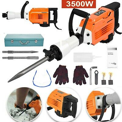 3500w Electric Demolition Hammer Breaker Jack Drill Concrete Hammer Power Tool • 117.58£