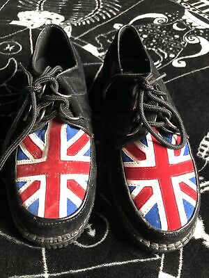 Black Faux Suede Creepers Size 5 • 8£