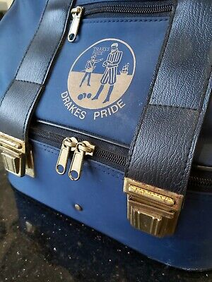 Set Of Four DRAKES PRIDE PROFESSIONAL Lawn Bowls, Size 3 With Drakes Carry Bag  • 18£