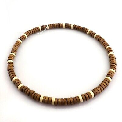 Handmade Natural Wooden Bead Necklace Choker Hippy Tibetan Surfer Wood Necklaces • 3.99£