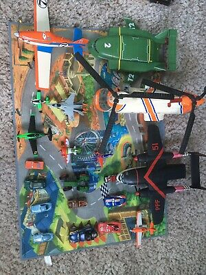 Disney Cars And Planes Diecast Toys Mixed Bundle With Tonka Helicopter • 20£