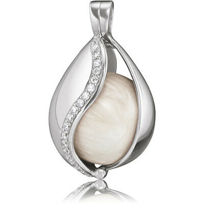 Pendant Mexican Bola Silver ENGELSRUFER ERP-20-TEAR-ZI-XS Silver-Plated Zircons • 60.51£