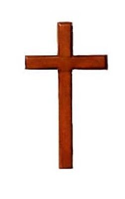 Christian Brown Wooden Cross 10cm Hanging Or Holding Mahogany Crucifix • 4.99£