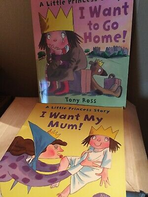 Tony Ross Little Princess Book Bundle X2 I Want My Mum   I Want To Go Home • 7£