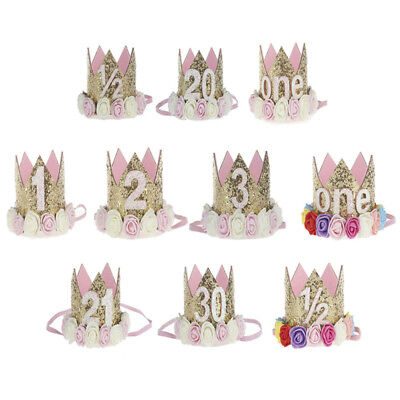 AU9.69 • Buy Princess Baby Girl 1st Birthday Flower Crown Party One&Two Year Hairband Tiar  N