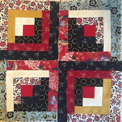 """Complete Log Cabin Patchwork Cushion Kit For Beginners 15"""" Square Dutch Heritag • 15£"""