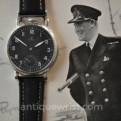 $ CDN2541.63 • Buy 50mm Rolex WW1 British RAF/Royal NAVY Military Antique Black Pilots Men's Watch