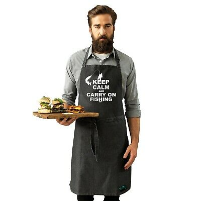 Fishing Apron Funny Novelty Kitchen Cooking - Keep Calm And Carry On Fishing • 7.83£