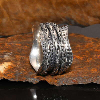Anxiety Boho 925 Sterling Silver Spinner Ring Women Spin Jewelry • 7.07£