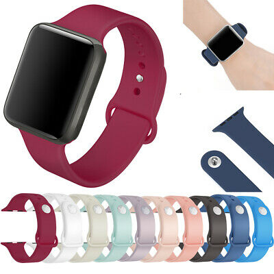 $ CDN4.99 • Buy 40/44mm Silicone Sport Watch Band Strap For Apple IWatch Series SE 6 5 4 3 2 1