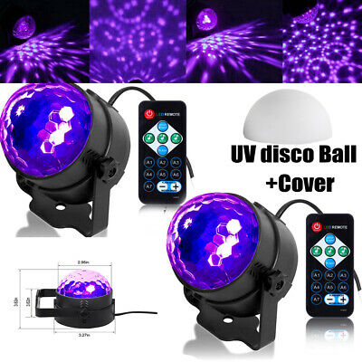 £18.99 • Buy 2X LED Disco Magic Ball UV Stage Light Rotating Party Sound Active Remote Light