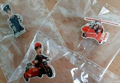 NEW 3 Postman Pat & Jess The Cat Pin Badges Inc Helicopter & Sidecar • 1.15£