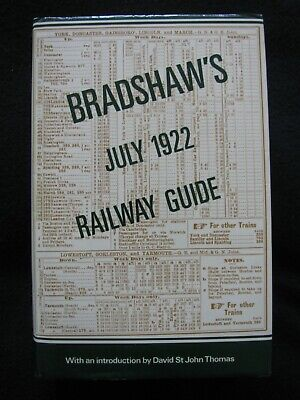 Bradshaw's July 1922 Railway Guide, 1985 David And Charles Facsimile Edition • 35£