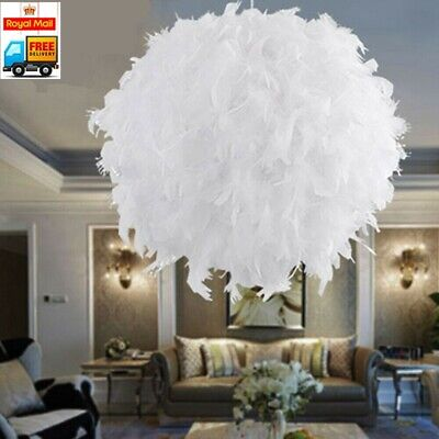 £9.59 • Buy Large Feather Ceiling Pendant Light Shade Morden Bedroom Nordic Style Lampshade